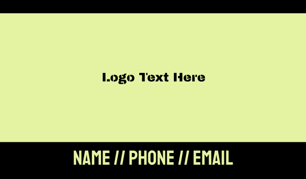 grenade - Army Military Text Font Business card horizontal design