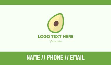 Fresh Avocado Business Card