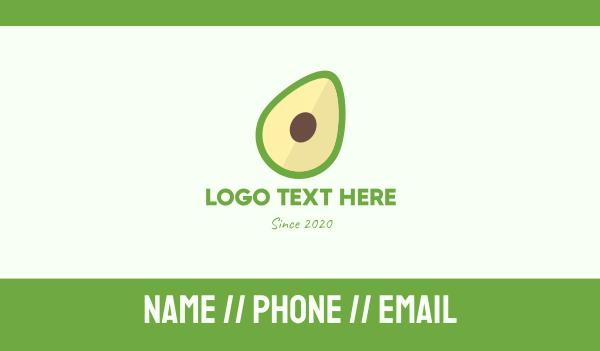 nutritious - Fresh Avocado Business card horizontal design
