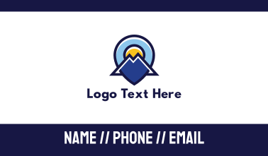 Blue Mountain Locator Business Card