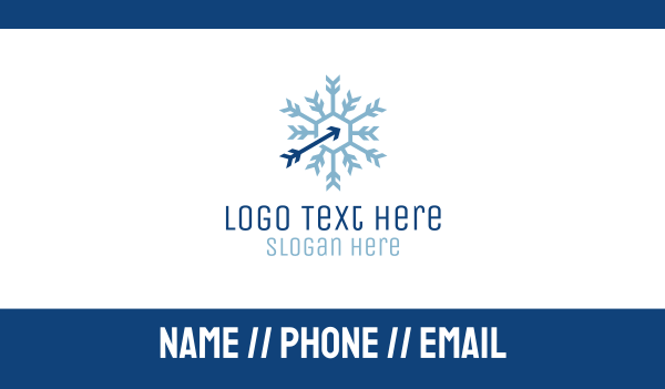 arctic - Snowflake Arctic Arrow Business card horizontal design