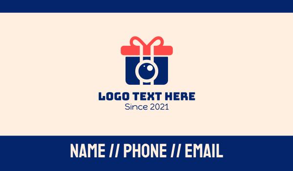 security camera - Camera Box Gift  Business card horizontal design