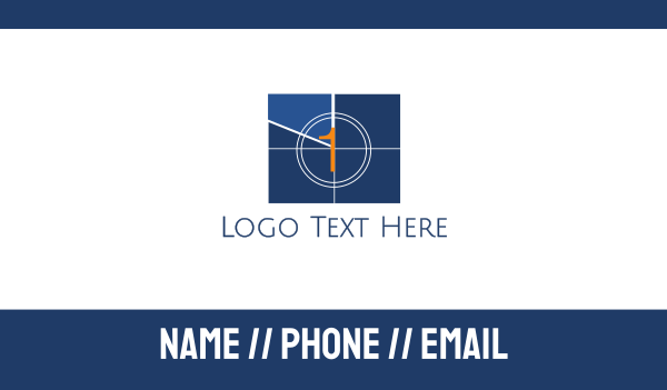 countdown - Television 1 Business card horizontal design