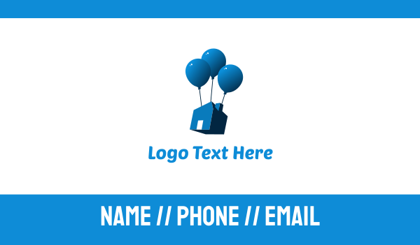 movers - House Balloon Business card horizontal design