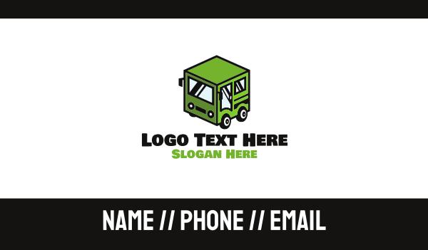 limo - Cube Automotive Van Truck Business card horizontal design