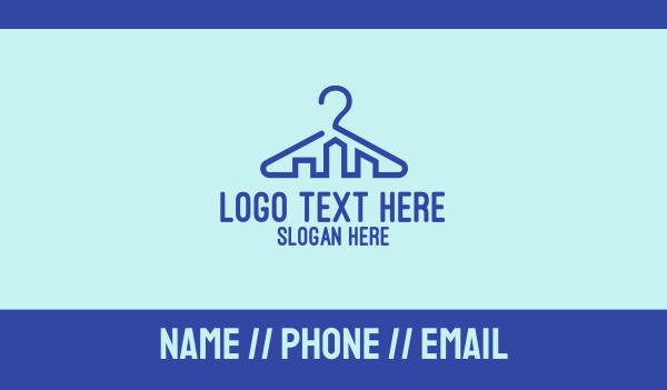 horizon - Urban Hanger Outline Business card horizontal design