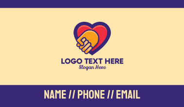 Heart Hand Care Support Business Card