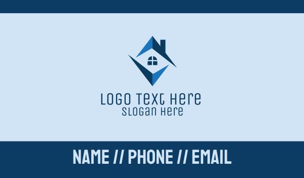 home developer - Blue Home Realty  Business card horizontal design