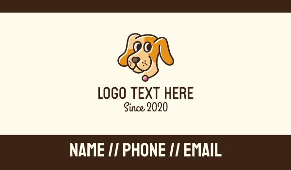 dog walker - Smiling Pet Dog  Business card horizontal design