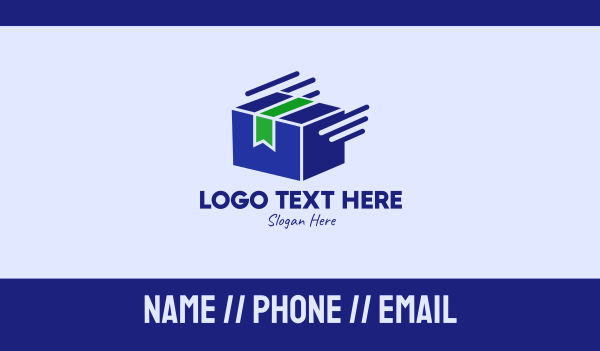 messenger - Fast Package Delivery  Business card horizontal design