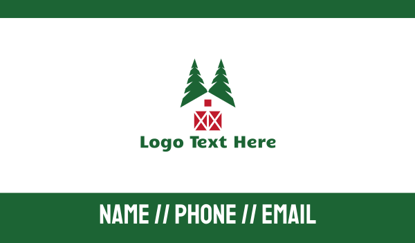 tree house - Forest Cabin Business card horizontal design