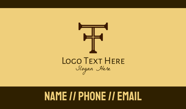 legal services - Classic Letter T  Business card horizontal design