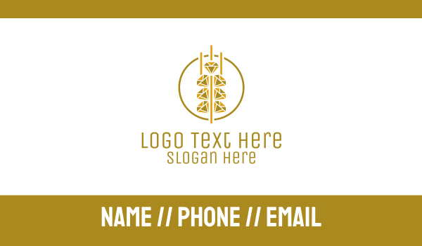 jewel - Diamond Grain Business card horizontal design