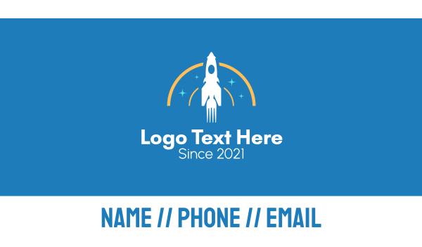 launching - Fork Rocket Business card horizontal design