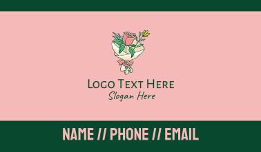 Rose Flower Florist Bouquet  Business Card