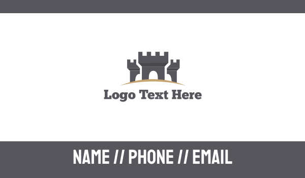palace - Medieval Castle Business card horizontal design