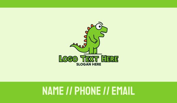 story book - Cute Cartoon Dino Business card horizontal design