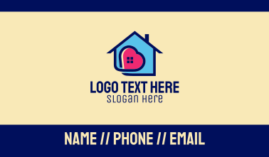 Stay At Home Heart Business Card