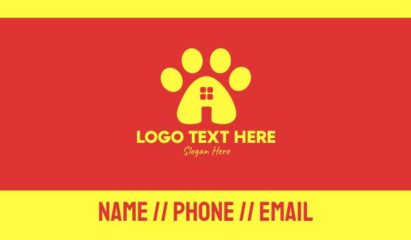 watchdog - Animal Paw Pet Shop Business card horizontal design