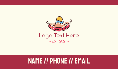 Mexican Sombrero Hat Business Card