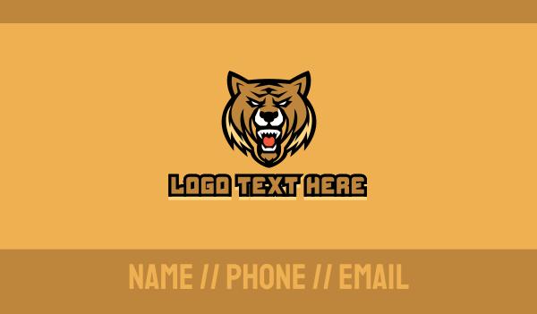 bear - Bear Sport Club Mascot  Business card horizontal design