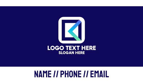 file - File Manager Mobile App Business card horizontal design