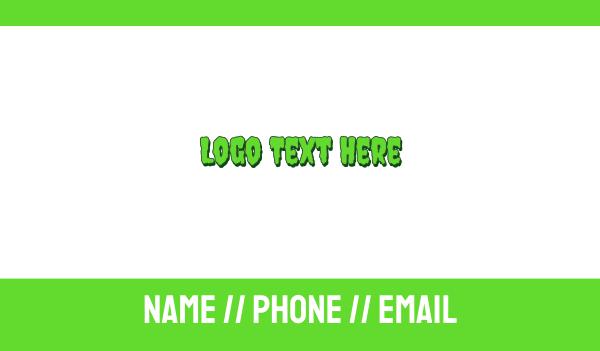 spooky - Slimy & Green Business card horizontal design