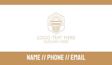 Elegant Greek Pillar Business Card