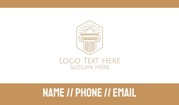 distiller - Elegant Greek Pillar Business card horizontal design