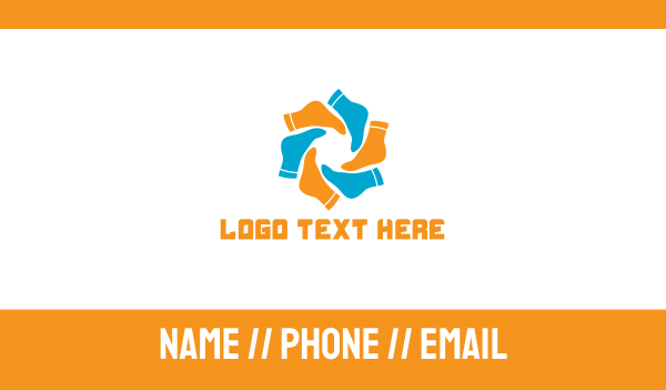 feet - Sock World Business card horizontal design