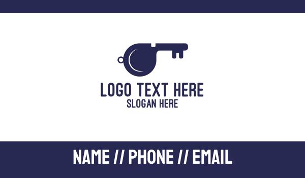 referee - Key Whistle Business card horizontal design
