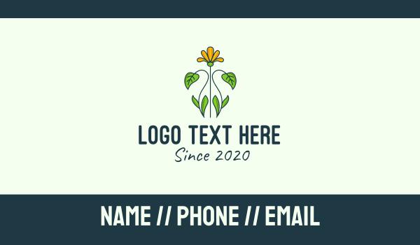 flower field - Yellow Flower Garden Business card horizontal design
