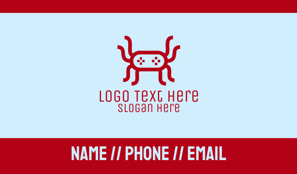 video game console - Video Game Spider Business card horizontal design