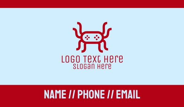 spider - Video Game Spider Business card horizontal design