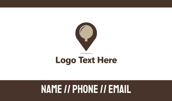 place - Coffee Place Business card horizontal design