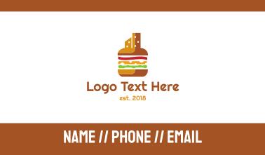 Burger Cheeseburger City Business Card
