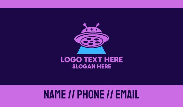 extraterrestrial - Sci-fi UFO Alien Film  Business card horizontal design