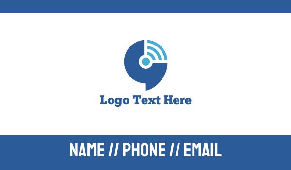 vpn - Wifi Signal Business card horizontal design