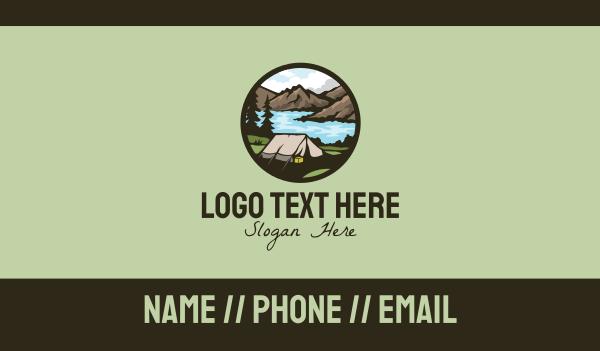 Outdoor Adventure Tent Business Card
