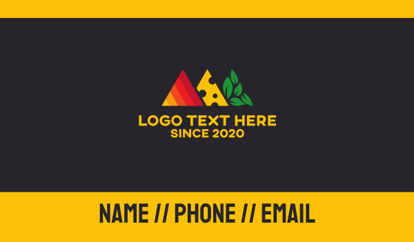keto - Food Triangles Business card horizontal design