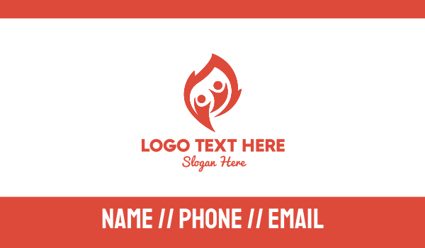 foundations - Flame People Business card horizontal design