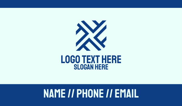 tiler - Blue Letter F Pattern Business card horizontal design