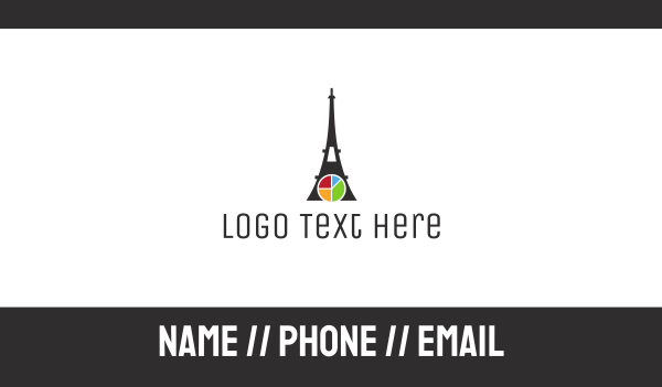 air travel - Eiffel Chart Business card horizontal design