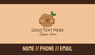 Tree Trunk Lettermark Business Card