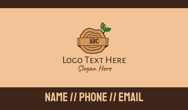bark - Tree Trunk Lettermark Business card horizontal design
