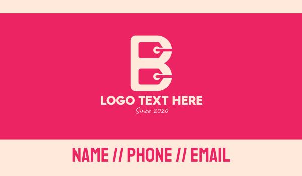 buying - Shopping Letter B Business card horizontal design