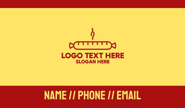 german - Hot Sausage Business card horizontal design