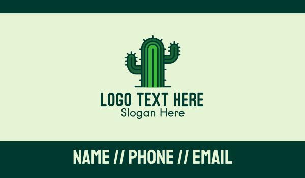 cacti - Thorny Cactus Business card horizontal design