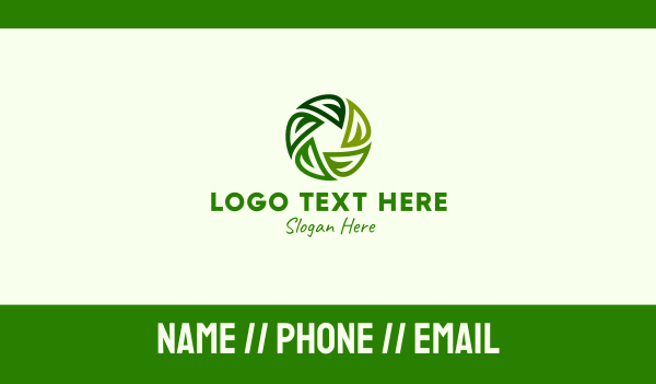 recycling - Green Leaf Cycle Circle Business card horizontal design