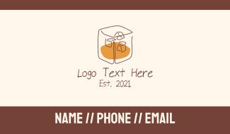 Bourbon Whiskey Liquor Drink Business Card